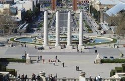 Vista sopra Barcellona. La Catalogna. La Spagna Fotografia Stock Libera da Diritti