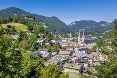 Vista sopra Berchtesgaden, Baviera, Germania Immagine Stock Libera da Diritti