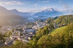Vista sopra Berchtesgaden, Baviera, Germania immagine stock