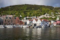 Vista sopra Bergen Immagine Stock Libera da Diritti