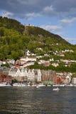 Vista sopra Bergen Fotografie Stock