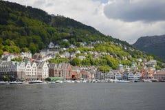 Vista sopra Bergen Fotografie Stock Libere da Diritti