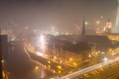 Vista sopra Berlino sui nuovi anni EVE 2013 Immagine Stock