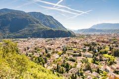 Vista sopra Bolzano Immagini Stock