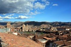 Vista sopra Cusco Immagine Stock Libera da Diritti