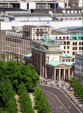 Vista sopra di un portone di Branderburger da sopra Fotografia Stock Libera da Diritti