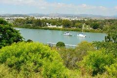 Vista sopra Gladstone nel Queensland, Australia Immagine Stock Libera da Diritti
