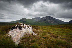 Vista sopra gli altopiani scozzesi fotografie stock libere da diritti