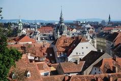 Vista sopra Graz, Austria Fotografia Stock Libera da Diritti