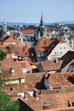 Vista sopra Graz, Austria Fotografie Stock