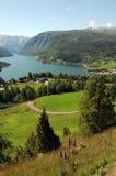 Vista sopra Hardangerfjord, Norvegia Immagine Stock Libera da Diritti