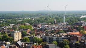 Vista sopra Hasselt, Belgio Fotografie Stock Libere da Diritti
