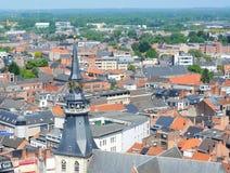 Vista sopra Hasselt, Belgio Fotografia Stock Libera da Diritti