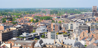 Vista sopra Hasselt, Belgio Immagini Stock