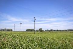Vista sopra i campi in Brandeburgo Immagine Stock Libera da Diritti