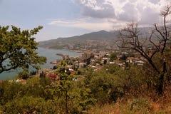 Vista sopra i tetti del Mar Nero fotografie stock libere da diritti