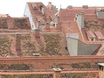 Vista sopra i tetti di vecchia città Graz,  Fotografia Stock Libera da Diritti