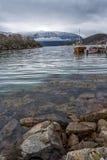 Vista sopra il fiordo norvegese Fotografia Stock Libera da Diritti