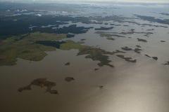 Vista sopra il fiume di Orinocco Immagini Stock