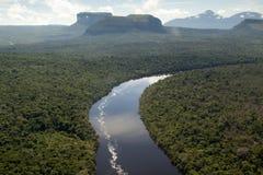 Vista sopra il fiume di Orinocco Fotografie Stock