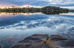 Vista sopra il lago Immagine Stock Libera da Diritti