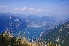 Vista sopra il lago Garda Fotografia Stock Libera da Diritti