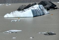 Vista sopra il lago glacier Fotografia Stock