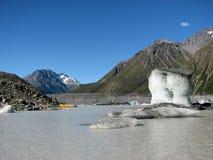 Vista sopra il lago glacier Fotografie Stock