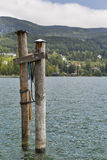 Vista sopra il lago Mondsee in alpi austriache Fotografia Stock Libera da Diritti