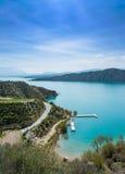 Vista sopra il lago Negratin immagine stock