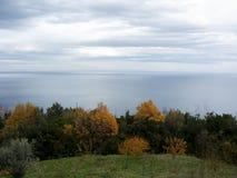 Vista sopra il mar Egeo fotografie stock