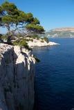 Vista sopra il mar Mediterraneo Fotografia Stock Libera da Diritti