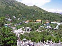 Vista sopra il Ngong Ping Plateau fotografia stock libera da diritti