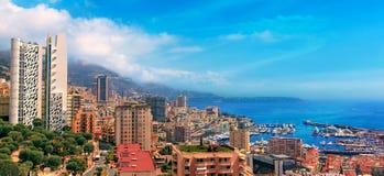 Vista sopra il porto del Monaco, Cote d'Azur Fotografia Stock Libera da Diritti