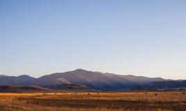Vista sopra il terreno coltivabile del deserto Immagine Stock
