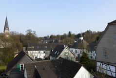 Vista sopra il villaggio di Haan-Gruiten Fotografie Stock Libere da Diritti