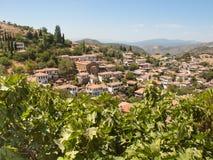 Vista sopra il villaggio turco di Sirince Fotografie Stock