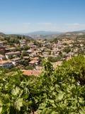 Vista sopra il villaggio turco di Sirince Fotografie Stock Libere da Diritti