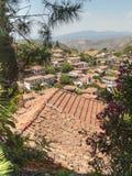 Vista sopra il villaggio turco di Sirince Fotografia Stock Libera da Diritti