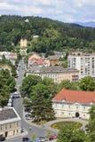 Vista sopra Klagenfurt dalla chiesa della st Egyd Fotografia Stock Libera da Diritti