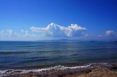 Vista sopra l'isola di Zakyntos Immagini Stock Libere da Diritti