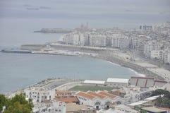 Vista sopra la baia di Alger, Algeria fotografia stock libera da diritti