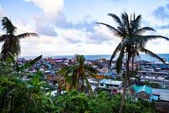 Vista sopra la baia di Baracoa/Cuba Fotografia Stock