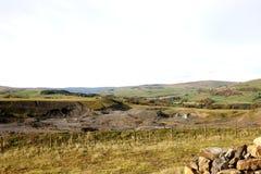 Vista sopra la cava di abbandono Immagine Stock Libera da Diritti