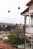 Vista sopra la chiesa di Metekhi a Tbilisi, Georgia Fotografie Stock