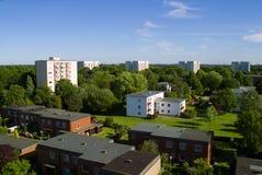 Vista sopra la città Fotografie Stock