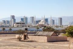 Vista sopra la città della Fujairah Fotografie Stock Libere da Diritti