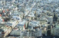 Vista sopra la città di Casablanca, Marocco Fotografia Stock Libera da Diritti