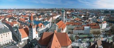Vista sopra la città di Monaco di Baviera Fotografia Stock