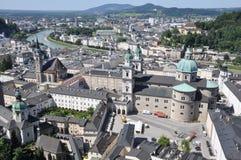 Vista sopra la città di Salisburgo Immagine Stock